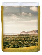 Farm Fields To Seaside Shores Duvet Cover