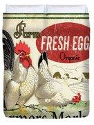 Farm Fresh Eggs-b Duvet Cover