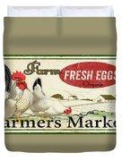 Farm Fresh Eggs-c Duvet Cover