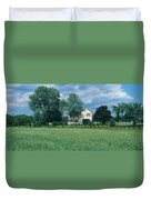 Farm House And Spring Field, Maryland Duvet Cover