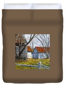 Farm In Berthierville Duvet Cover