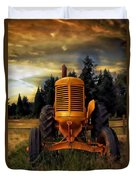 Farm On Duvet Cover by Aaron Berg