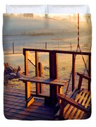 Farm Porch Morning Duvet Cover