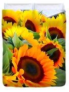 Farm Stand Sunflowers #8 Duvet Cover
