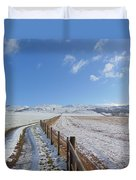 Farm Track To Round Law And King's Seat Duvet Cover