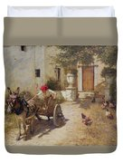 Farm Yard Scene Duvet Cover