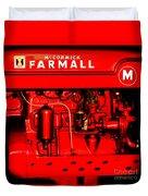 Farmall Engine Detail Duvet Cover
