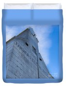 Farmers Grain Elevator, Power, Montana Duvet Cover