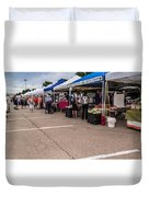 Farmers Market Before The Crowd Duvet Cover