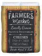 Farmer's Market Signs Duvet Cover