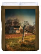 Farmhouse And Fence Post Duvet Cover