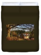 Farmhouse In The Valley Duvet Cover