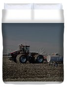 Farming April In The Field On The Case 500 Pa Duvet Cover