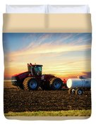 Farming April In The Field On The Case 500 Duvet Cover