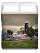 Farming Before The Storm Finger Lakes New York 04 Duvet Cover