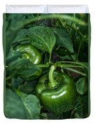 Farming Green Peppers Duvet Cover