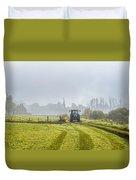 Farming In Clackmannan Duvet Cover