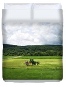 Farming New York State Before The July Storm 03 Duvet Cover