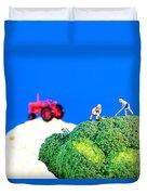 Farming On Broccoli And Cauliflower II Duvet Cover