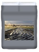 Farming Strawberries Duvet Cover