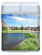 Farmland Along John Day River Duvet Cover