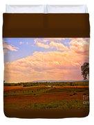 Farmland In Gettysburg Duvet Cover