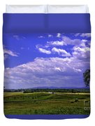 Farmland In Gettysburg Version II Duvet Cover