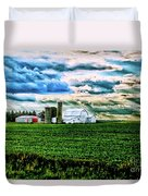 Farmland In  Hdr Duvet Cover