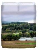 Farmland In Pennsylvania Duvet Cover