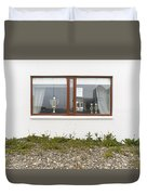 Facade - A Window With A Trophy To Show Duvet Cover