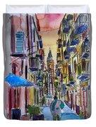 Fascinating Palermo Sicily Italy Street Scene Duvet Cover