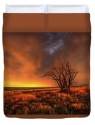Fascinations - Warm Light And Rumbles Of Thunder In The Oklahoma Panhandle Duvet Cover