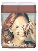 Fashion Eyewear Pin-up Duvet Cover