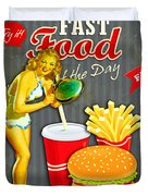 Fast Food Of The Day Duvet Cover