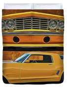 Fast Yellow Duvet Cover
