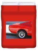 Fastback Mustang Duvet Cover