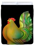 Fat Chicken By Rafi Talby  Duvet Cover