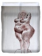 Fat Nude Woman  Duvet Cover
