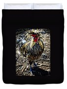 Fat Tuesday - Mardi Gras Chicken Duvet Cover