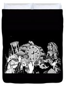 Father Time In Black And White Duvet Cover