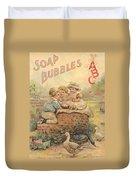 Father Tucks Soap Bubble Duvet Cover