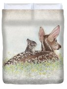 Fawn And Bunny Duvet Cover
