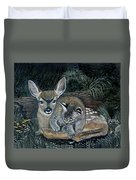 Fawn And Cat Duvet Cover