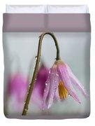 Fawn Lilies In The Rain Duvet Cover