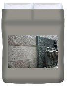 Fdr Memorial - Shared Sacrifice Duvet Cover
