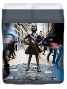 Fearless Girl Duvet Cover