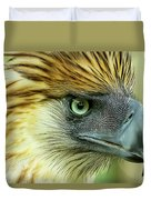 Fearless Philippine Eagle Duvet Cover
