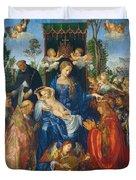 Feast Of Rose Garlands Duvet Cover