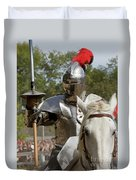Knight With Lance Duvet Cover