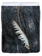 Feather In Burnt Tree Duvet Cover